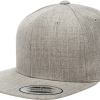 Yupoong Heather Grey Classic Snapback