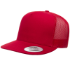 Red Trucker Style Caps