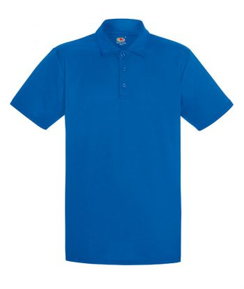 Royal Blue Mens Performance Polo