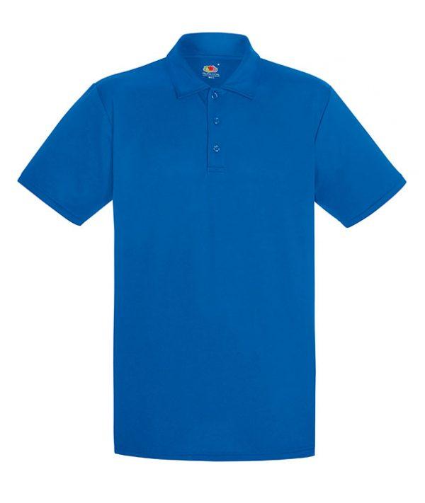 Royal Blue Mens Performance Polo